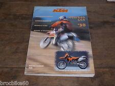 MANUEL D UTILISATION ET D ENTRETIEN KTM 400 640 LC4 1998 Owner's Handbook