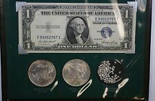"""""""The Silver Story""""Including  nice pieceMorgan,  Peace Dollar- Silver Certificate"""