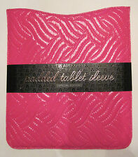 Quilted Padded Pink Patent Leather iPad Tablet Sleeve Case Holder $40, FREE S&H