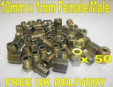 "3/16"" Copper Brake Pipe Fittings 25 x Male & Female Metric Nuts 50 Pieces"