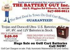 T-105 225ah Trojan  golf cart battery. Gc2. Made in the US. Date code made 2016