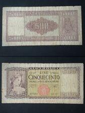 BANCONOTA LIRE 500 ITALIA 10-02-1948 COME DA FOTO