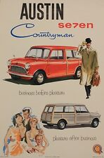 Vintage Car Advertising poster  A4 RE PRINT Austin 7 Countryman