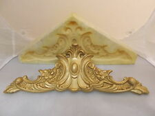 SILICONE RUBBER MOULD ORNATE PEDIMENT MOULDING MIRROR FURNITURE CUPBOARDS