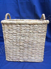 Seagrass Hyacin Rattan Jute Laundry Toys Storage Organization Basket Bin Medium