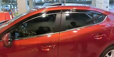 RAIN GUARD WINDOW SHADE VISOR W/CHROME STRIP For Mazda 3 '2014+ 4D/5D