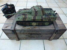 Torro 1/16 RC GERMAN PANTHER F BB Tank Camo 2.4ghz METAL BOX in legno 360 Edition