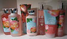 Bath & Body Works Gel Cream Diamond Mist Lotion Scrub Pretty as a Peach Set 7