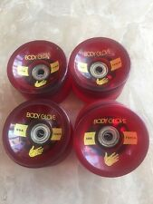 Body Glove Longboard Slide Wheels 70mm 80a A-7 Bearings In New