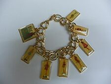 2008 BARBIE CONVENTION WORLD OF FASHION GAME CHARM BRACELET