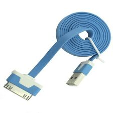 Long 2m USB Cable for iPhone 4S 4 iPad 3 2 Data Charger Strong Lead Blue