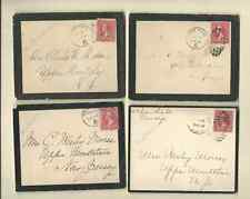 4 USA MOURNING COVERS 1897
