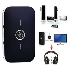 2 in1 HIFI Wireless Bluetooth Audio Transmitter Receiver 3.5mm Music Adapter NEW