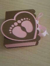 2 Scatole bomboniera porta confetti nascita battesimo bimbo piedini (0,65 l'una)