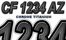 ChromeTitnm Boat Registration Numbers or PWC Decals Stickers Graphics CF NV AZ..
