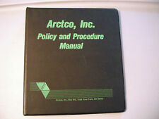 Vintage Arctic Cat Arctco, Inc Policy And Procedure Manual 3 Ring Binder (Black)