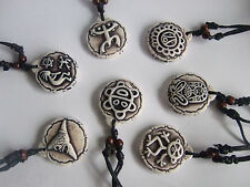 7pcs Yak Bone Resin Mixed Taino Coqui Frog Cemi Sun Turtles Kokopelli Necklace