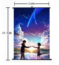 "Hot Japan Anime Your Name Poster Wall Scroll Home Decor 8""×12"" 02"