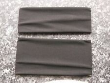 Pack 2 Black headband hair bandeaux fabric hairband 10cm 7.5cm sports band
