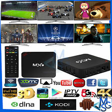 MX9 4K TV BOX ANDROID XBMC KODI SMART TV WIFI H.265 8GB QUAD CORE IP TV MINI PC