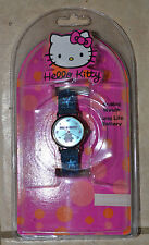 HELLO KITTY ANALOG WATCH SANRIO! Blue Brand New RARE SIL-3419 HK287