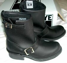 NEW in Box FRYE WOMEN'S BLACK ENGINEER 8R BOOTS LOW MOTORCYCLE BIKER NIB 36 6
