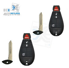 2NEW Uncut Replacement Key-Fob Keyless Entry Remote for JEEP 2008-2010 Commander