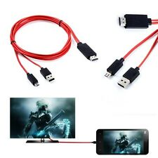 MHL Micro USB HDMI TV Adapter Cable For Samsung SM-G900A SM-G900P SM-G900R Phone