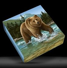 2014 Canada $100 for $100 Grizzly Bear Wild Life in Motion 1oz Silver coin .9999