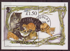 ISLE OF MAN 1996 MANX CATS FINE USED