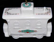 1990 Lenox Yuletide Express Caboose White 24K Christmas Ornament