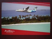 POSTCARD AIR TRANS MALDIVIAN AIRWAY AEROPLANE DASH 8 Q300