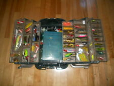 "Fishing Tackle box Plano, loaded with lures Very  Nice""  rods reels n deals"