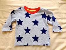 ♥ Marks & Spencer M&S Baby Star Navy Mix Long Sleeves Top (0-3 months) ♥
