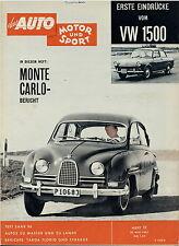 Auto Motor Sport 11 61 1961 VW 1500 Saab 96 Amphicar Oldsmobile F 85 Cutlass
