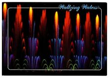Waltzing Waters Florida Postcard Fort Myers Water Music Lights Fountain Show