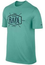 New Nike Tee Shirt 596201-339 LARGE L Nadal Advantage Vamos Rafa Diffused Jade