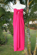 Sarong Solid Plus Size Bright Pink Beach Cover-up Hawaii Pareo Bikini Wrap Dress