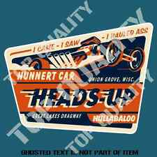 HEADS UP Decal Sticker for Mancave RatRod Hot Rod Americana Drag Decals Stickers