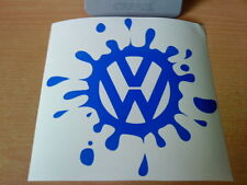 large vw paint splat car bonnet roof golf polo beetle vinyl sticker decal side