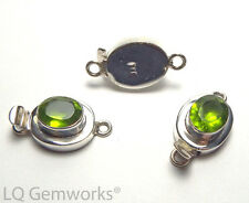 PERIDOT 925 Sterling Silver 26mm Faceted Box Clasp /P5