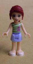 Lego Friends Figur - Mia (Rock und gestreiftem Top, Mädchen) Neu