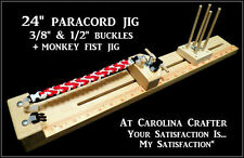 PROFESSIONAL QUALITY 2 BUCKLE PARACORD BRACELET JIG + MONKEY FIST JIG