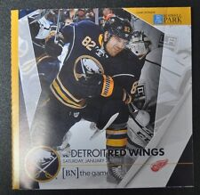 2015-16 Buffalo Sabres program 1/2/16 Marcus Foligno cover vs Redwings