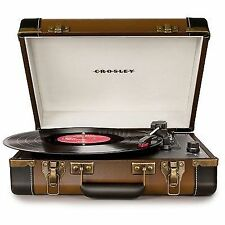 CROSLEY Executive Portable USB Turntable- Vinyl to mp3- Built in Speaker- New