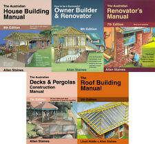 5 New Books Allan Staines- House Building, Owner Builder, Renovator, Decks, Roof