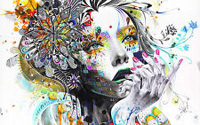 PSYCHEDELIC GIRL ART A4 POSTER PRINT 260GSM