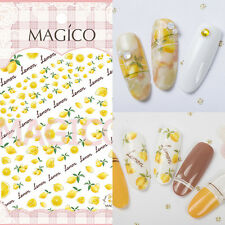 1 Sheet Ultra-thin Adhesive 3D Nail Art Sticker Manicure Decal Lemon Design Tips