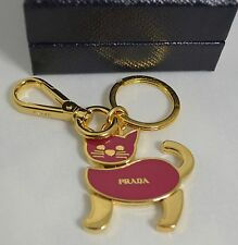 Prada Red and Gold Cat keyring/bag Charm