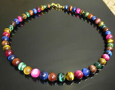 Multi Coloured Tiger's Eye Necklace